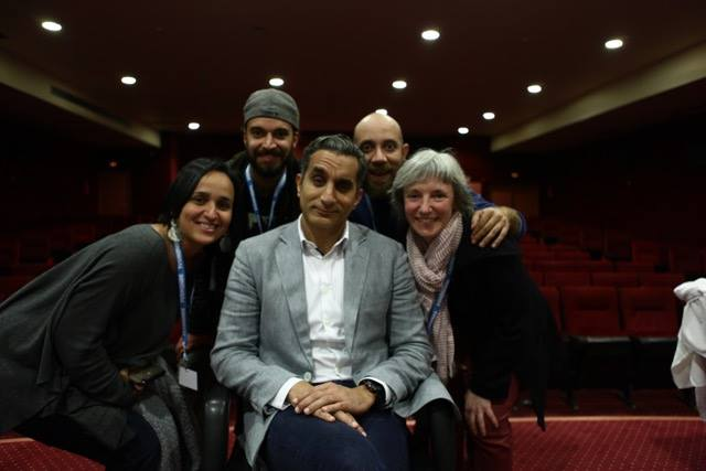 Dreh mit Bassem Youssef in Tunis